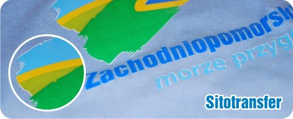 Sitodruk transfer na koszulkach reklamowych